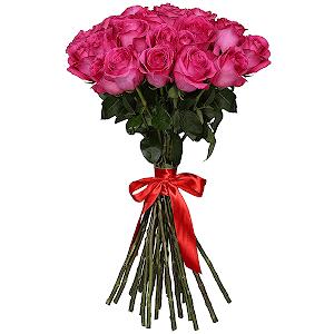 Букет из 29 розовых роз - премиум